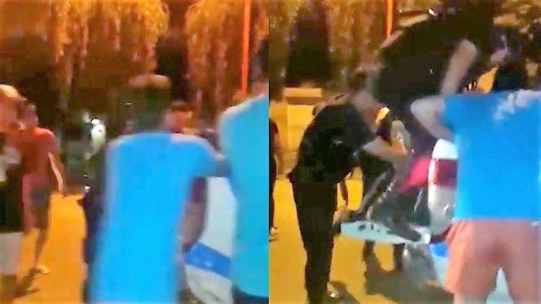 Así fue la golpiza que le dieron a los dos motochorros que asaltaron dos mujeres