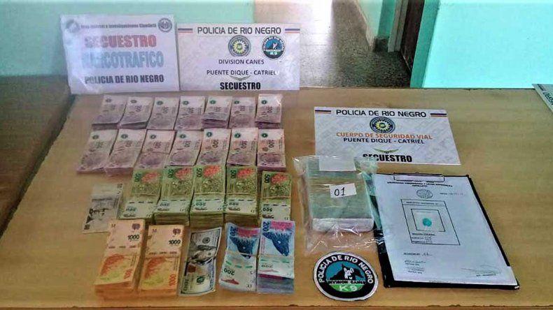 Cayó un pastor paraguayo con un millón de pesos falsos y cocaína