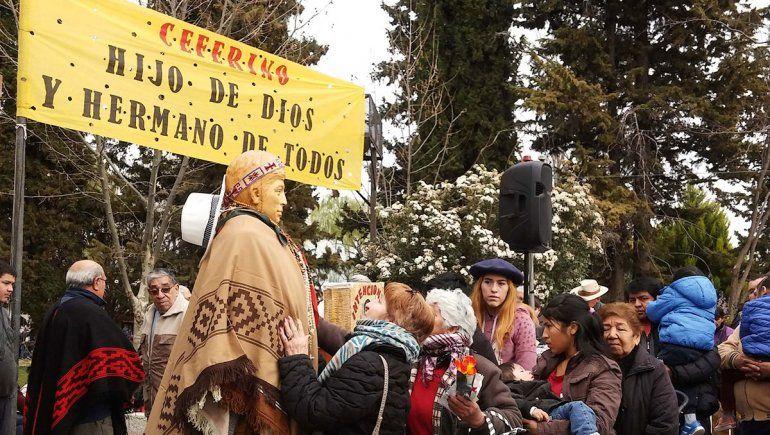Ceferino Namuncurá: una multitud asistió a la peregrinación de Chimpay