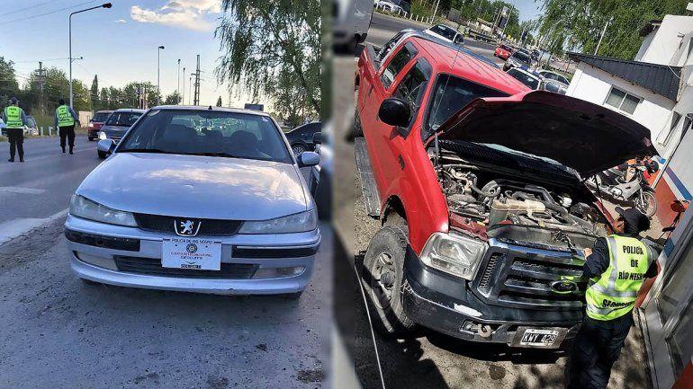 En la Caminera recuperaron autos que habían sido robados