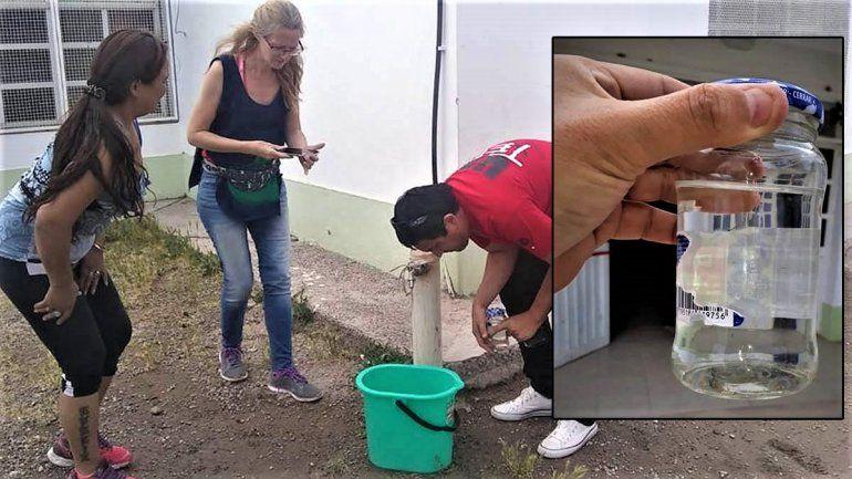 Denuncian que el agua en el jardín 99 del barrio Labraña sale con larvas