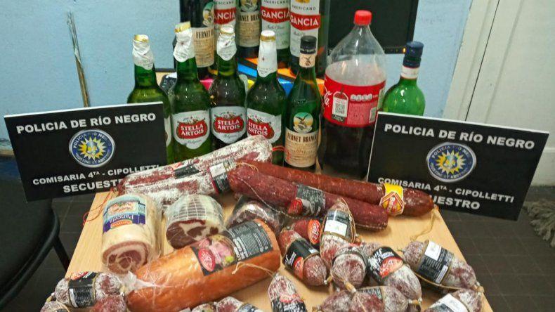 Robaron salame, Fernet y Coca para la picada de Año Nuevo, pero los descubrieron