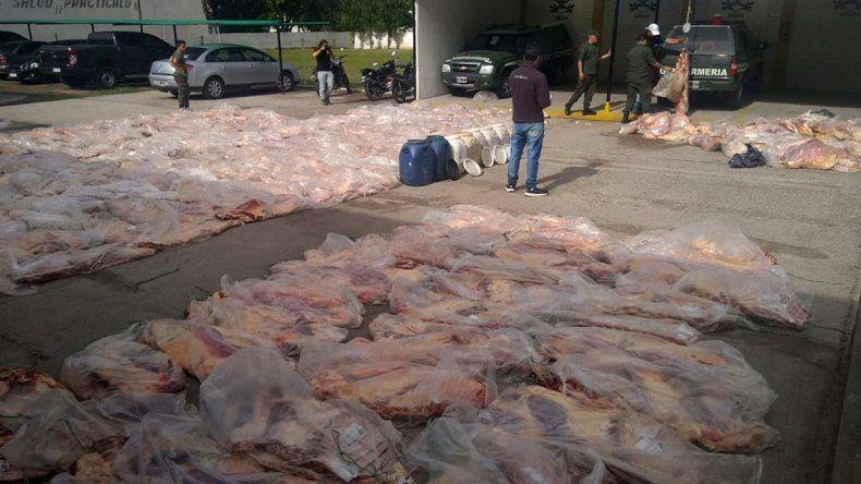 Gran decomiso de carne que venía a Cipolletti