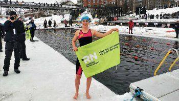 La nadadora rionegrina de aguas heladas que sorprende al mundo