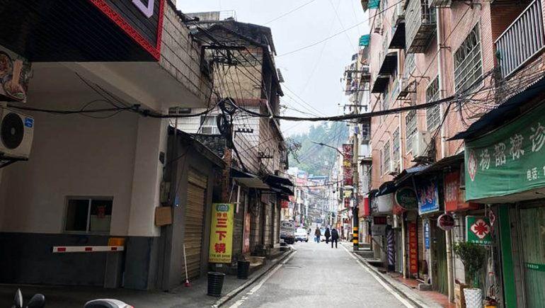 Las calles en China estaban completamente vacías por el temor al virus.