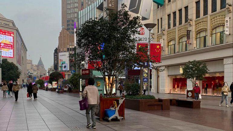 Las calles en China estaban vacías por el temor al virus.