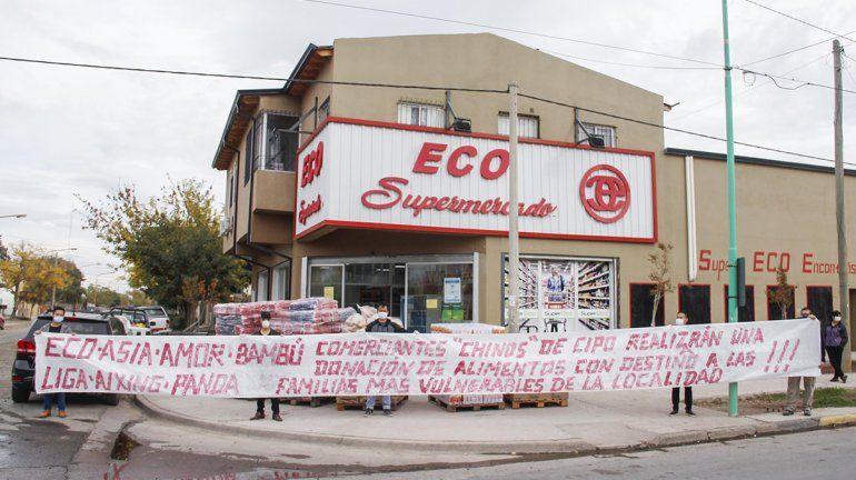 Lo que donaron los supermercados chinos a la Muni