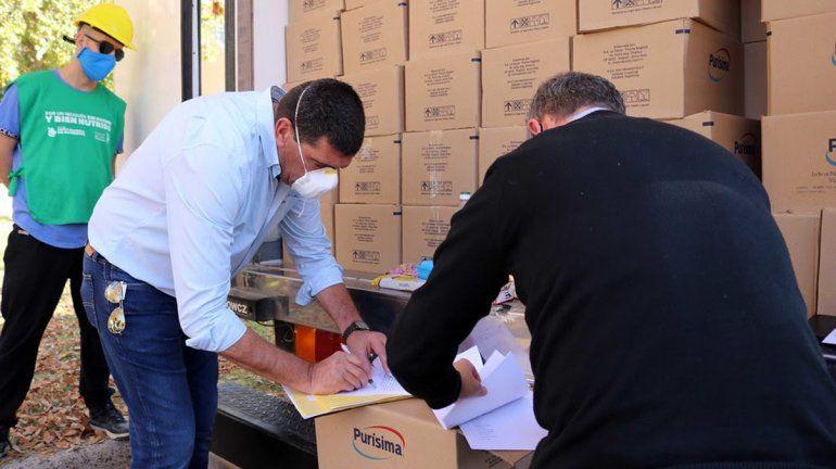 Arrancó la entrega de alimentos junto a la Fundación de Estudios Patagónicos