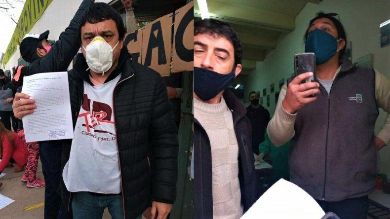 Tensión en una protesta docente en la puerta del CPE