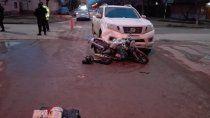 joven motociclista resulto herido en un choque