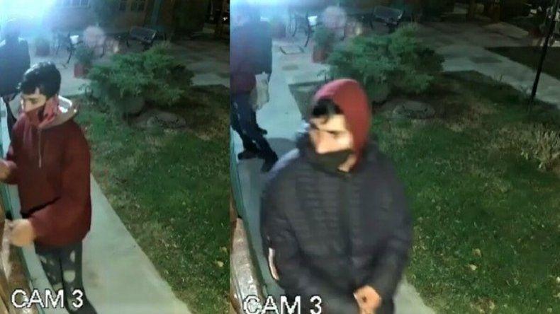 Quisieron entrar a robar y quedaron grabados