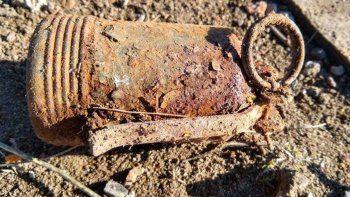 una granada del ano 1945 puso en alerta a ciudad de rio negro
