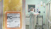 se realizo el primer tratamiento con plasma convaleciente en el hospital