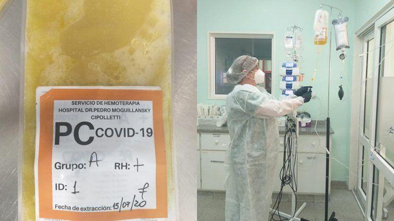 Se realizó el primer tratamiento con plasma convaleciente en el hospital cipoleño