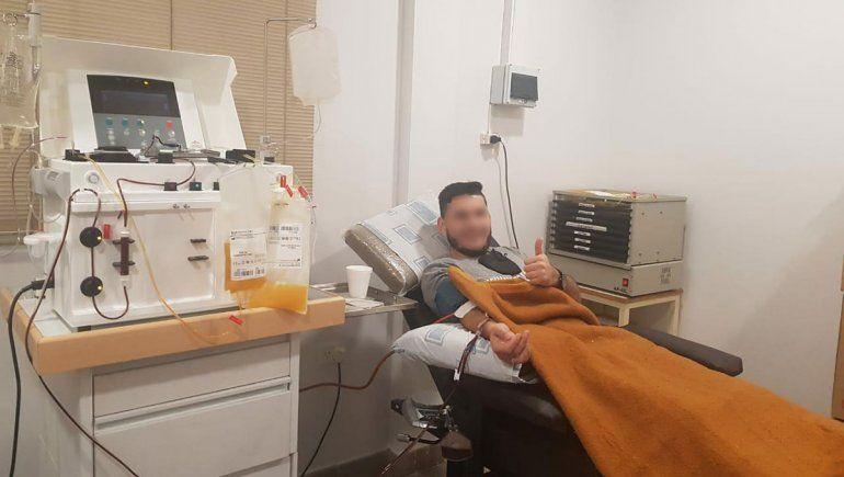Primer donante de plasma recuperado de Covid-19