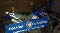 recuperaron una moto robada tras una persecucion