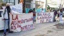 vecinos del labrana se manifestaron frente al municipio