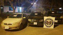 recuperaron tres vehiculos que habian sido robados en el valle