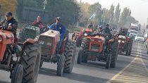 chacareros suspendieron el tractorazo en rechazo al pago de zona