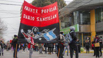 el frente dario santillan reclama lotes al municipio