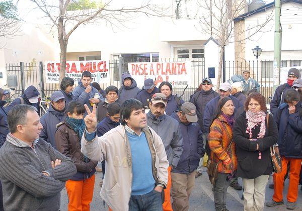 Protesta de trabajadores municipales