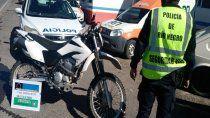 circulaba en una moto enduro robada hace mas de un ano