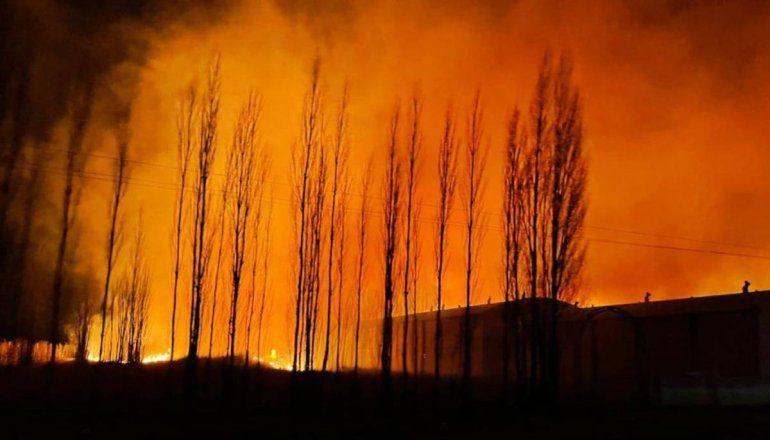 Tensión en Guerrico por el incendio de un frigorífico