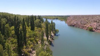 La Isla Verde, un oasis poco conocido en las orillas del Limay.