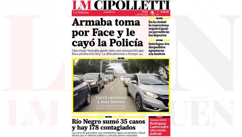 Mirá la edición impresa de LM Cipolletti