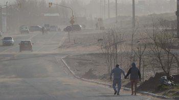 alerta por fuertes rafagas de viento en la region