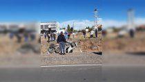 choque en cadena sobre ruta 7: ocho vehiculos involucrados