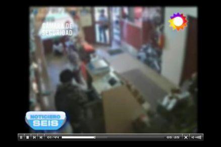 Imágenes de un asalto en Bariloche