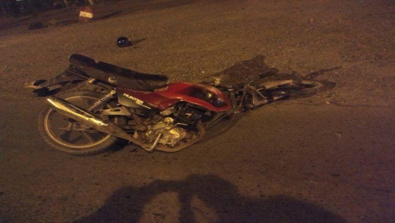 Dos heridos en un violento accidente de tránsito