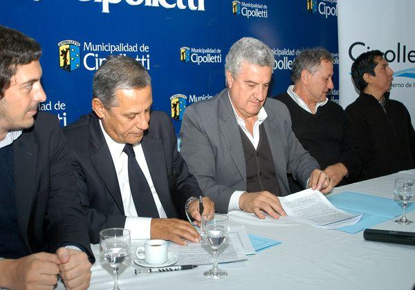 Baratti y Pechi Quiroga firmaron un acuerdo