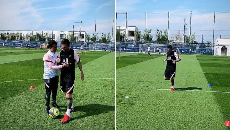 Messi ya se entrenó en el PSG y sueña con el debut