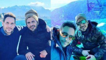 Las románticas vacaciones de Rodrigo Lussich en Bariloche