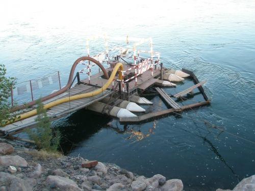Se instaló una nueva bomba de captación de agua en Allen