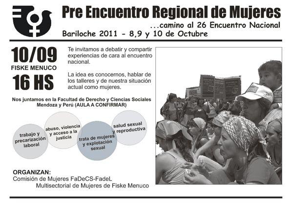 Pre Encuentro Regional de Mujeres en General Roca
