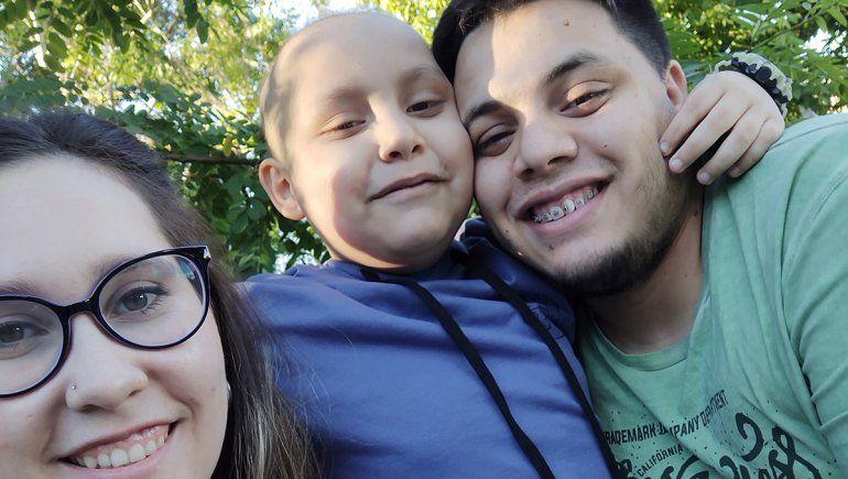 Valentín cumplió años y lo festejó en Fernández Oro junto a su familia