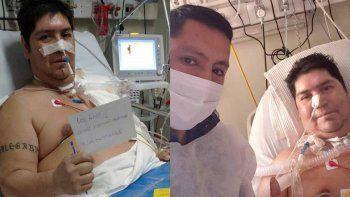 Pasó 48 días internado y no puede creer que esté vivo
