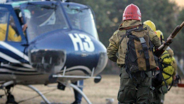 Más brigadistas se suman a la lucha contra el incendio en El Bolsón