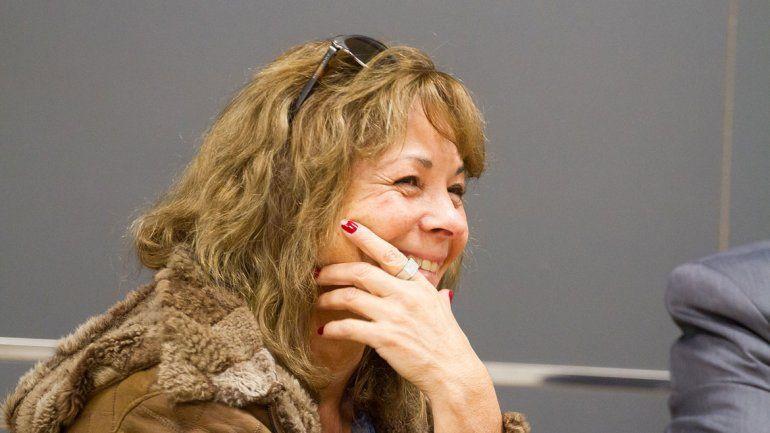 A la ex esposa de Rubén López se la vio muy relajada en la audiencia.