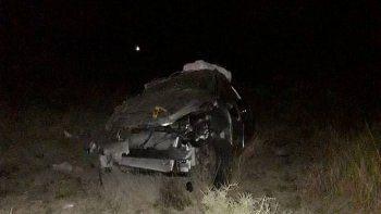 fatal vuelco en ruta 151: murio una mujer y hay tres heridos