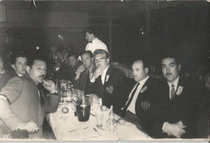 Armando Errecart y Marcial Molina con compañeros.