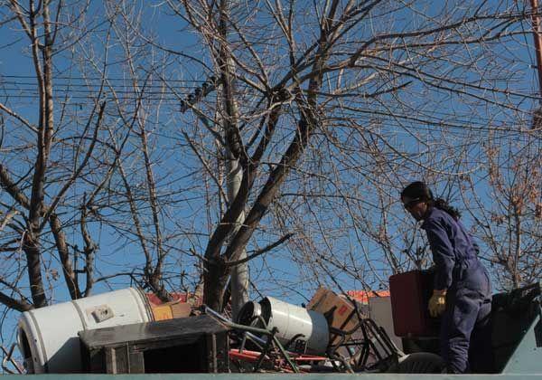 Recolectaron 11 camiones de chatarra en la zona norte