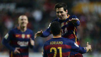 Messi llegó a los 301 goles en la Liga.