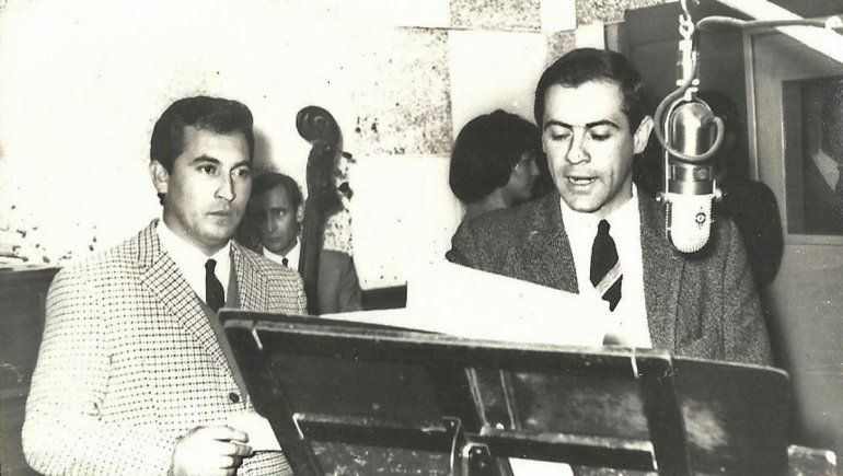 Jorge Fernández Garro con Milton Aguilar.