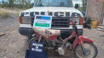 secuestraron una moto robada y marihuana en un allanamiento