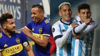 Minuto a minuto: Boca y Racing buscan la final de la Copa Liga Profesional