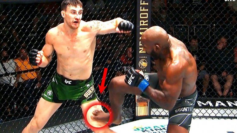 El escalofriante nocaut en la UFC: le rompió la rodilla con una patada